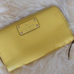 Yellow Kate Spade  Clutch/Wallet GUC
